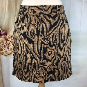 Chaps Animal Print Skirt